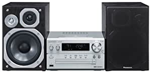 Panasonic SC-PMX5EG-S - Microcadena de 120W para iPhone, iPod (estéreo), plateado