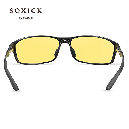 SOXICK Night Driving Glasses Polarized Safe Anti Glare Night Vision Glasses for Driving HD Yellow Lens by YIJIUERBA (Image #2)