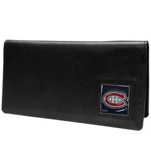 NHL Montreal Canadiens Executive Genuine Leather Checkbook Cover