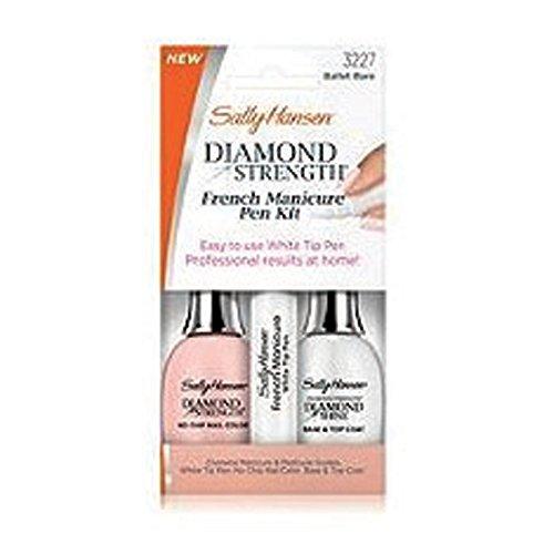 French Manicure Pedicure (Sally Hansen Diamond Strength French Manicure Pen Kit, Ballet Bare)