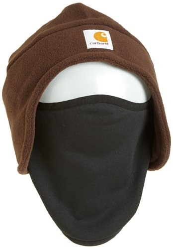 - Carhartt Men's Fleece 2-In-1 Headwear,Dark Brown,One Size