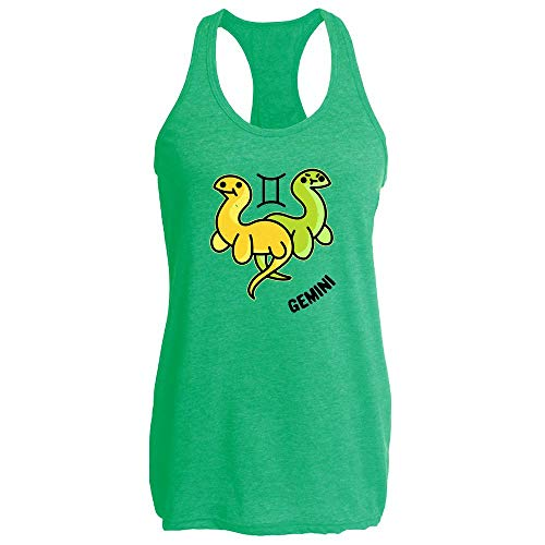 Gemini Nessie and Bessie Cryptid Zodiac Funny Heather Kelly M Womens Tank Top ()