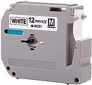 Fita para Rotulador Brother M-K231 12mm Preto sobre Branco