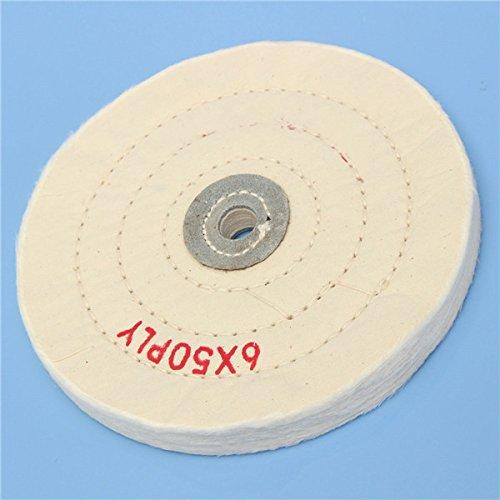 6 Inch Round Felt Wool 1/2inch Arbor Buffer Polisher Buffing Polishing Wheel