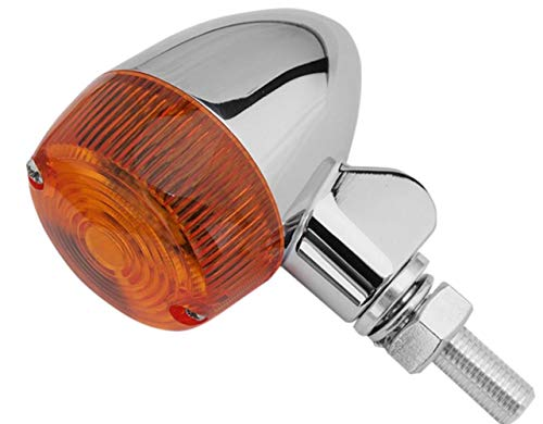 Lens 8320 (K&S Technologies Chrome Aluminum Marker LED Lights - Round #1 with Amber Lens - Two Wire 26-8320CM)
