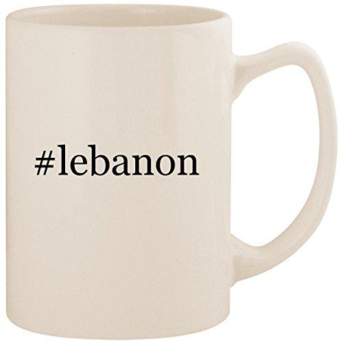 #lebanon - White Hashtag 14oz Ceramic Statesman Coffee Mug Cup