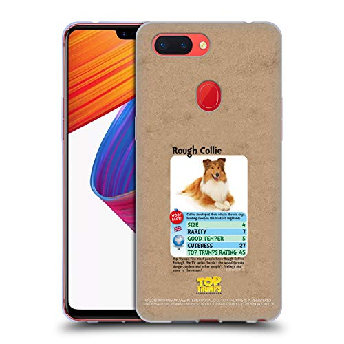 Official Top Trumps Rough Collie Dogs 2 Soft Gel Case for Oppo R15