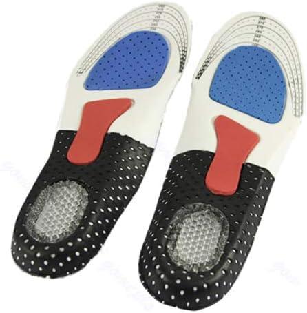 AchidistviQ-Men Orthopädische Fußgewölbeunterstützung Schuhpolster Sport Laufen Gel Einlegesohlen Massage-Einsatz