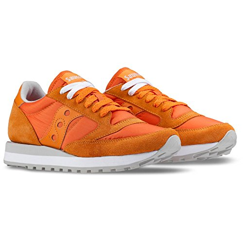 Saucony en Jazz Sneakers Baskets Original Femme Beige Daim Chaussures Orange xIrqpwI
