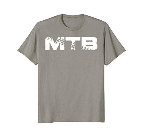 Mens MTB T-Shirt for Cycling, Downhill and Mountain Bike Fans 2XL Slate Downhill Bike Shop