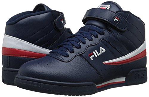 Fila Men's f-13v lea/syn Fashion Sneaker, Navy/White Red, 9 M US