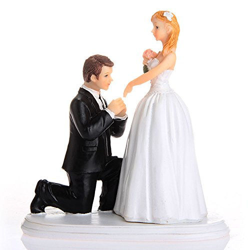 QTMY Funny Fishing Wedding Cake Toppers Couple Wedding Decorations Suppliers by QTMY
