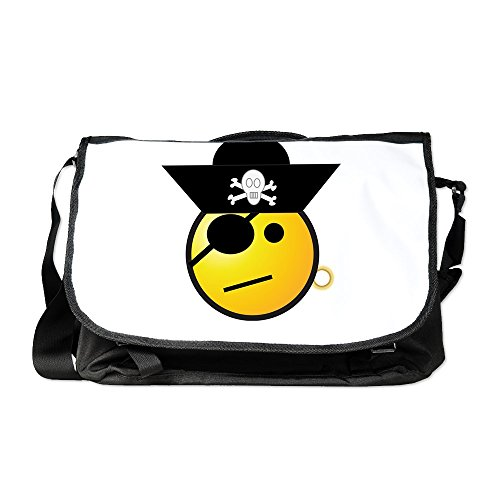 Disney Cruise Deck - Truly Teague Laptop Notebook Messenger Bag Smiley Face Pirate