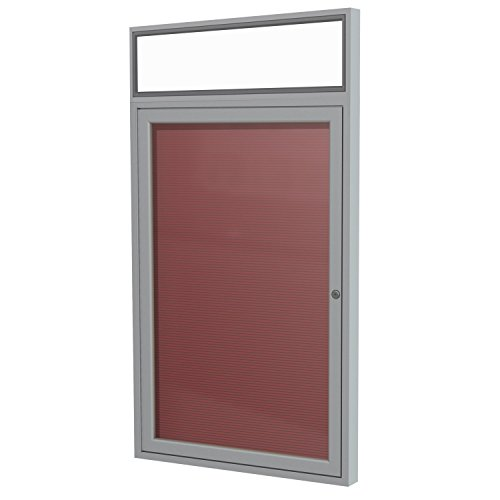 Ghent 36'' x 30'' 1 Door Outdoor Enclosed Vinyl Letter Board, Burgundy Panel (PABLX3-BG) by Ghent