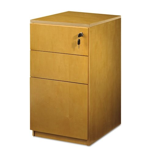 Luminary Series Veneer Freestanding File Pedestal Box in Cherry