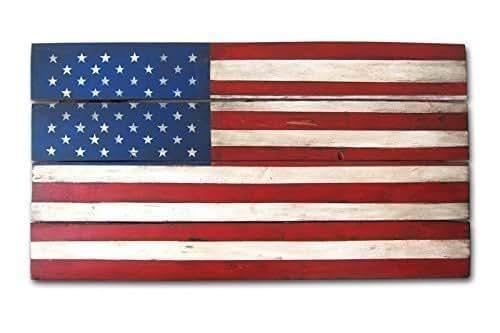 Rustic u s flag wood wall art color American flag wood wall art