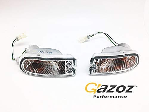Impreza Markers - GAZOZ PERFORMANCE Clear Bumper Marker Turn Light Lamp for Subaru Impreza 1999-2000 GC8 GF8 WRX STI
