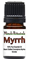Miracle Botanicals Myrrh Essential Oil - 100% Pure Commiphora Myrrha - 10ml, or 30ml Sizes - Therapeutic Grade