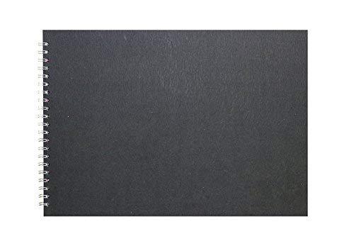 Pink Pig A3 Landscape Sketchbook   Recycled White Cartridge, 35 Leaves   Pit Pig Black