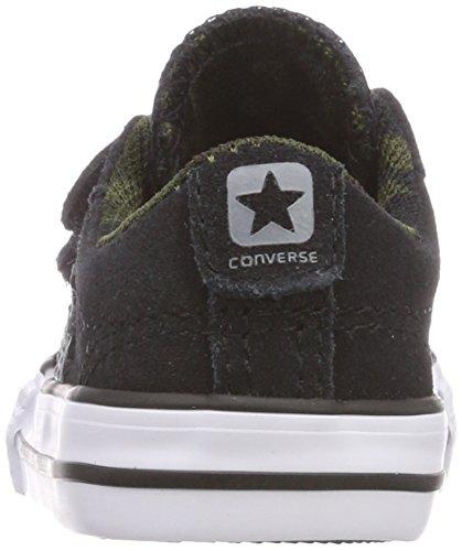 Converse Star Player Ev 2v OX White/Black, Zapatillas Unisex Niños Schwarz (Black/White/Black)