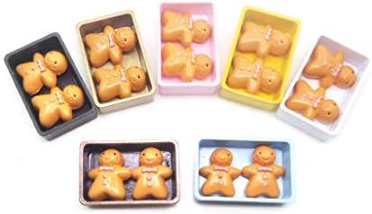 Keepart - Caja de galletas de miniaturas para casa de muñecas con galletas, juego de cocina: Amazon.es: Hogar