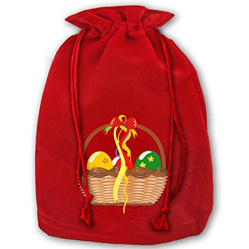 ODDEHTC Basket Clipart Gift Christmas Drawstring Gift Bag, 35