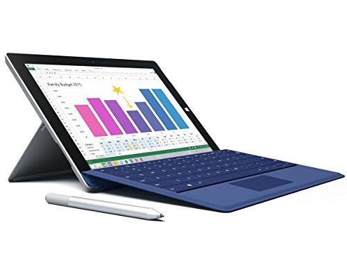 Microsoft Surface Pro 3 512GB WiFi Tablet + Dark Blue Type Keyboard Bundle (12-Inch Touchscreen, 8GB Ram, 1.7GHz Intel Core i7)