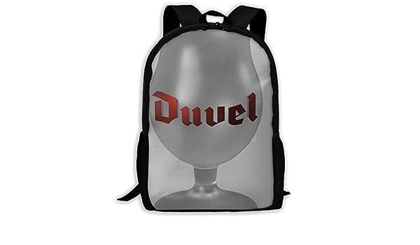 5da68d3546dc Amazon.com: Duvel Beer Glas Oxford Unisex Adult Backpack Lightweight ...