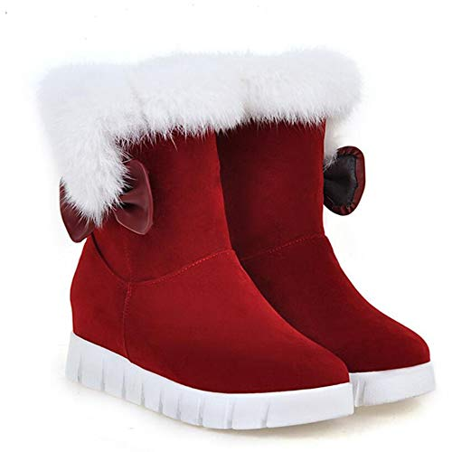 Botas Gran De KUKI Plano o Mujer Invierno Caliente Moda De Botas Nieve Botas Algod Tama De A6H6Onr
