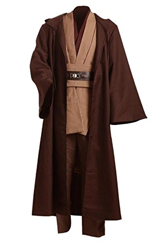 GOTEDDY Men Cosplay Robe Tunic Outfit Brown Costume for Halloween Dress Up (XXL)]()