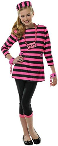 Girls Miss Dee Meaner Prisoner Costume - -