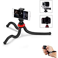 iPhone Tripod, Phone Tripod with Bluetooth Remote Control,Phone Mount Adapter,Gopro Adapter for iPhone,Smartphone,Camera,Gopro by Fotopro