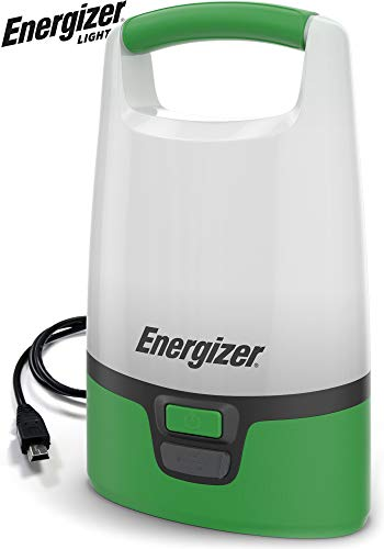 ENERGIZER Rechargeable LED Camping Lantern Flashlight, 1000 High Lumens, IPX4 Water Resistant, Portable Lantern Flashlight For Camping, Outdoors, Hurricane, Emergency Use, 7.3 in.