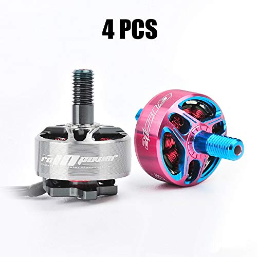 Hockus Accessories 4PCS RCi GTS V 1506 Brushless Motor 3000KV 4300KV Mini 15.5g Pink Motors for RC Drone Small FPV Quadcopter Spare Parts Access - (Color: Pink Blue - Rci Accessories