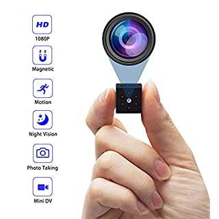 Hidden Camera,Mini Camera Home Secruity Spy Cam HD 1080P Portable Nanny Cam with Night Vision and Motion Detection for Baby/Elder/Pet Monitor Fit Indoor Outdoor Using