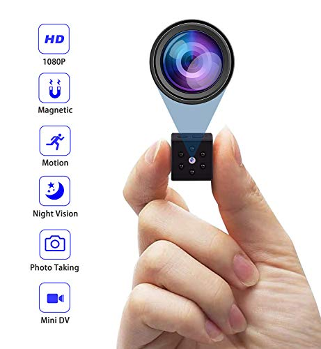 Hidden Camera,PELDA Mini Camera Home Secruity Spy Cam HD 1080P Portable Nanny Cam with Night Vision and Motion Detection for Baby/Elder/Pet Monitor Fit Indoor Outdoor Using