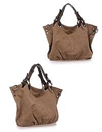 Tiebs Vintage Canvas Purse Large Handbag Hobo Diaper Handbag