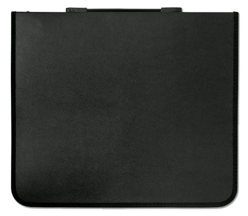 Prat Paris Start 1 Polypropylene Presentation Case, Zippered Multi-ring Binder with Ten 24'' x 18'' Archival Sheet Protectors, Cover Color: Black.