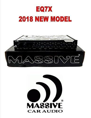 Massive Audio EQ7 EQ7X 7-Band In-Dash Graphic Equalizer w/ 8V Line Driver Aux In