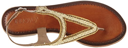 Inuovo 7215, Chanclas para Mujer Gold (Gold)