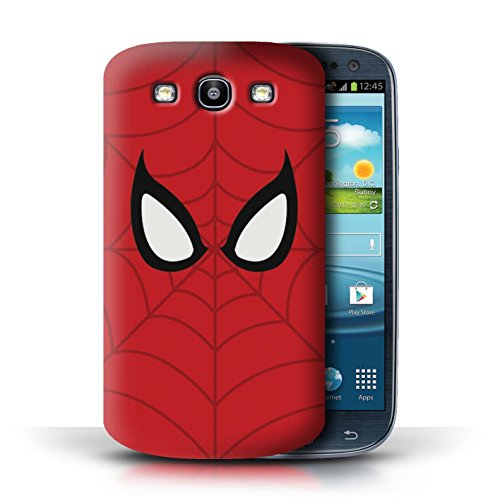 STUFF4 Phone Case/Cover for Samsung Galaxy S3/SIII/Spider-Man Mask Inspired Design/Super Hero Comic Art - Case Spiderman Galaxy Samsung S3