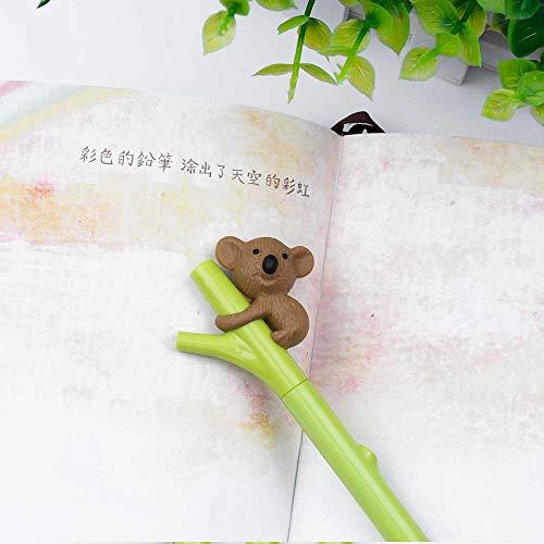 Best Quality - Ballpoint Pens - Cute Animal Pen Creative Stationery Gel Ink Pen 0.5mm Black Pens Student Supplies - by LA Moon's - 1 PCs