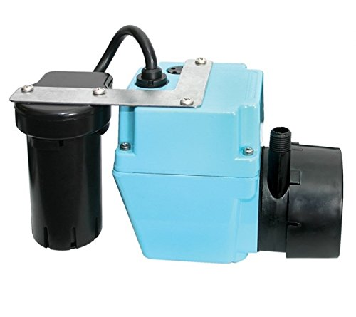 Little Giant 2-ABS (551907) Shallow Pan Condensate Removal Pump, 115V, 1/2 gal. tank, 1/40HP, 9' cord ()