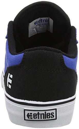 Etnies Barge LS Skateboarding scarpe, nero/nero/Gum, (8.5m) US, blu (Blue (Black/Blue/White)), 38