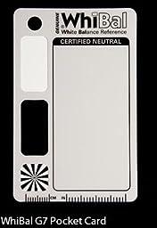 GENUINE WhiBal G7 Certified Neutral White Balance Card - Pocket Card (2.1\