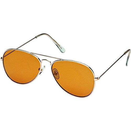 Blue Planet Eyewear Hayes Sunglasses - Polarized Gold/Blue Mirror Polarized, One - Planet Blue Eyewear