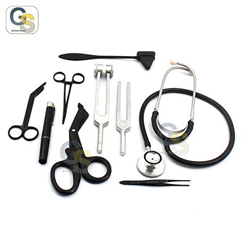 G.S - Solid Black First AID KIT Diagnostic EMT Nursing Student Paramedic Best Quality