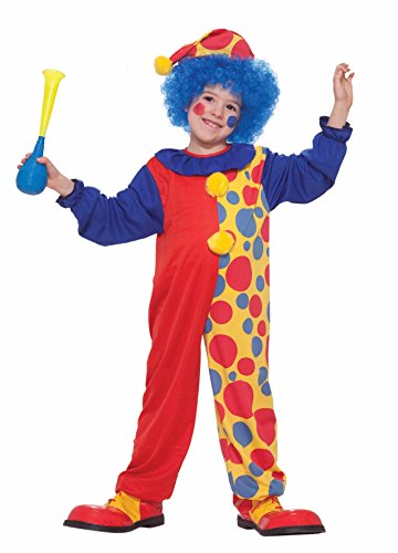 Value Priced Rainbow Clown Costume -