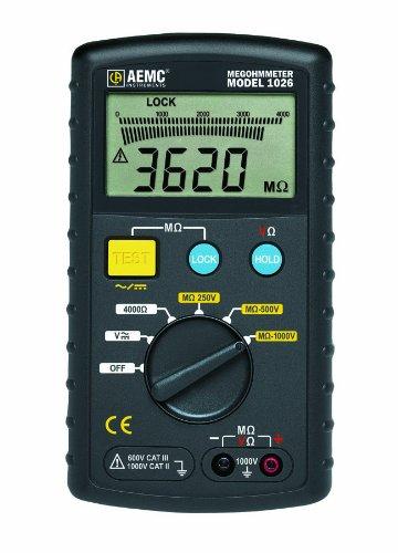 AEMC 1026 Digital Megohmmeter, 4000 Ohms Resistance, 600V AC DC Test Voltage