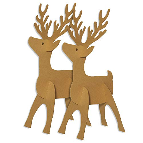 Dasher and Dancer Reindeer Cardboard Standup Kit, 48 x 24 Inches ()